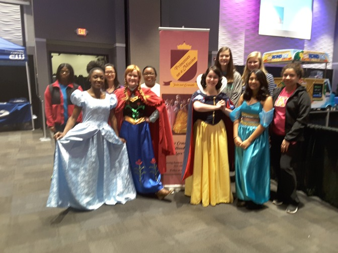 Princesses at Kid's Fest in Greenville